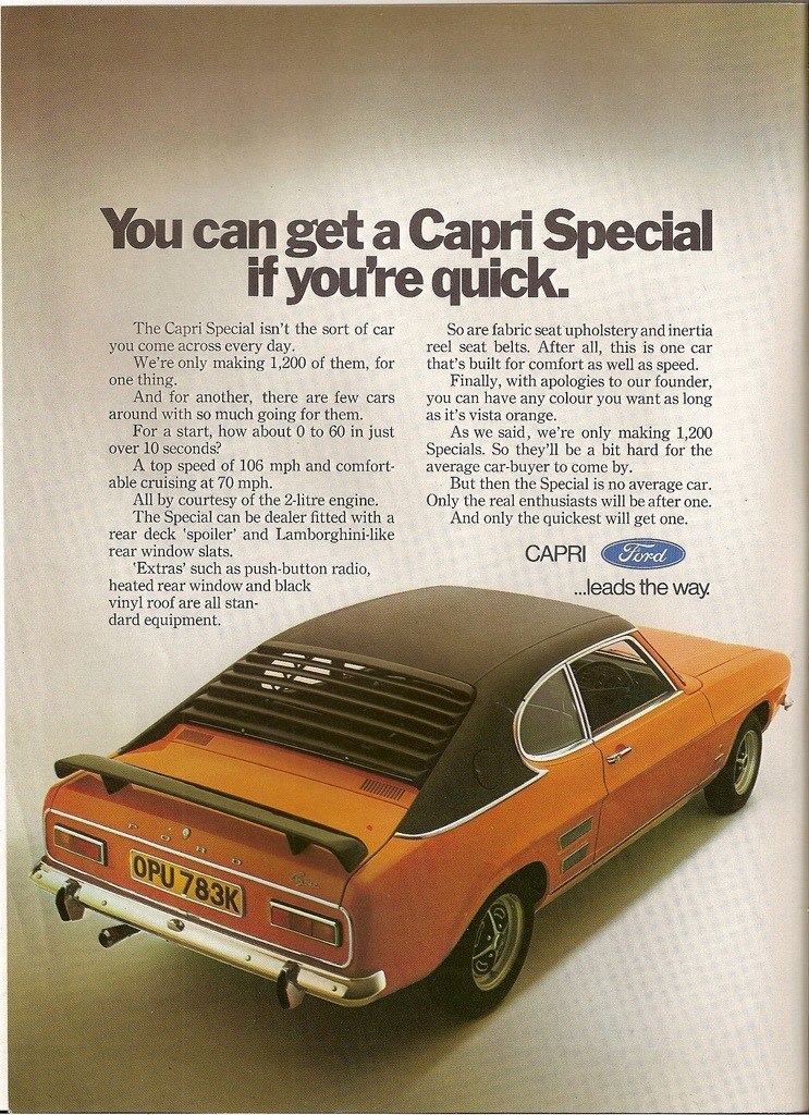 The Car You Always Promised Yourself - Ford Capri ads from 1969 ...