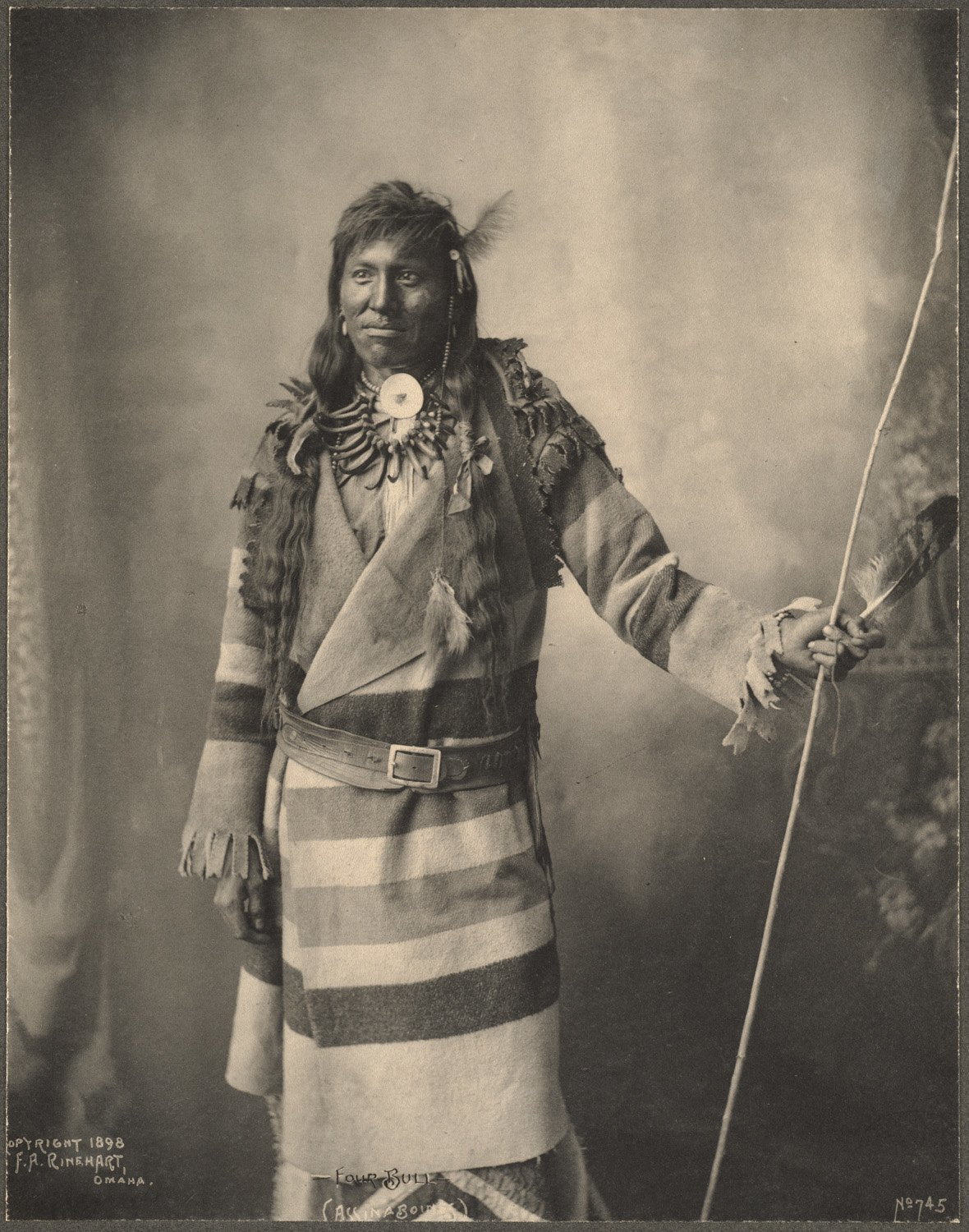 Four Bull, Assinaboines, 1899. (Photo by Frank A. Rinehart)