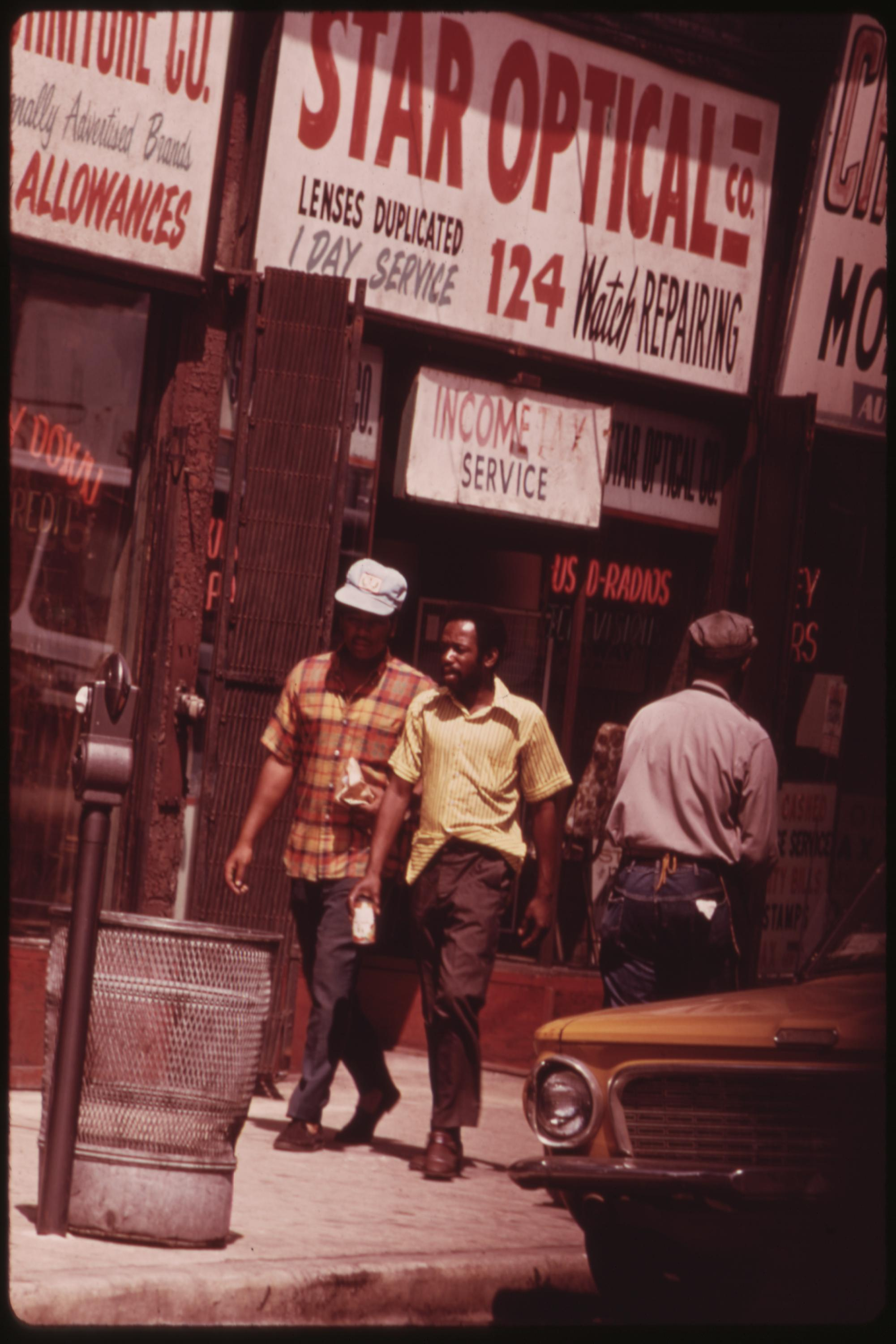 Ghetto Street Scene In Chicago On The South Side by John H. White