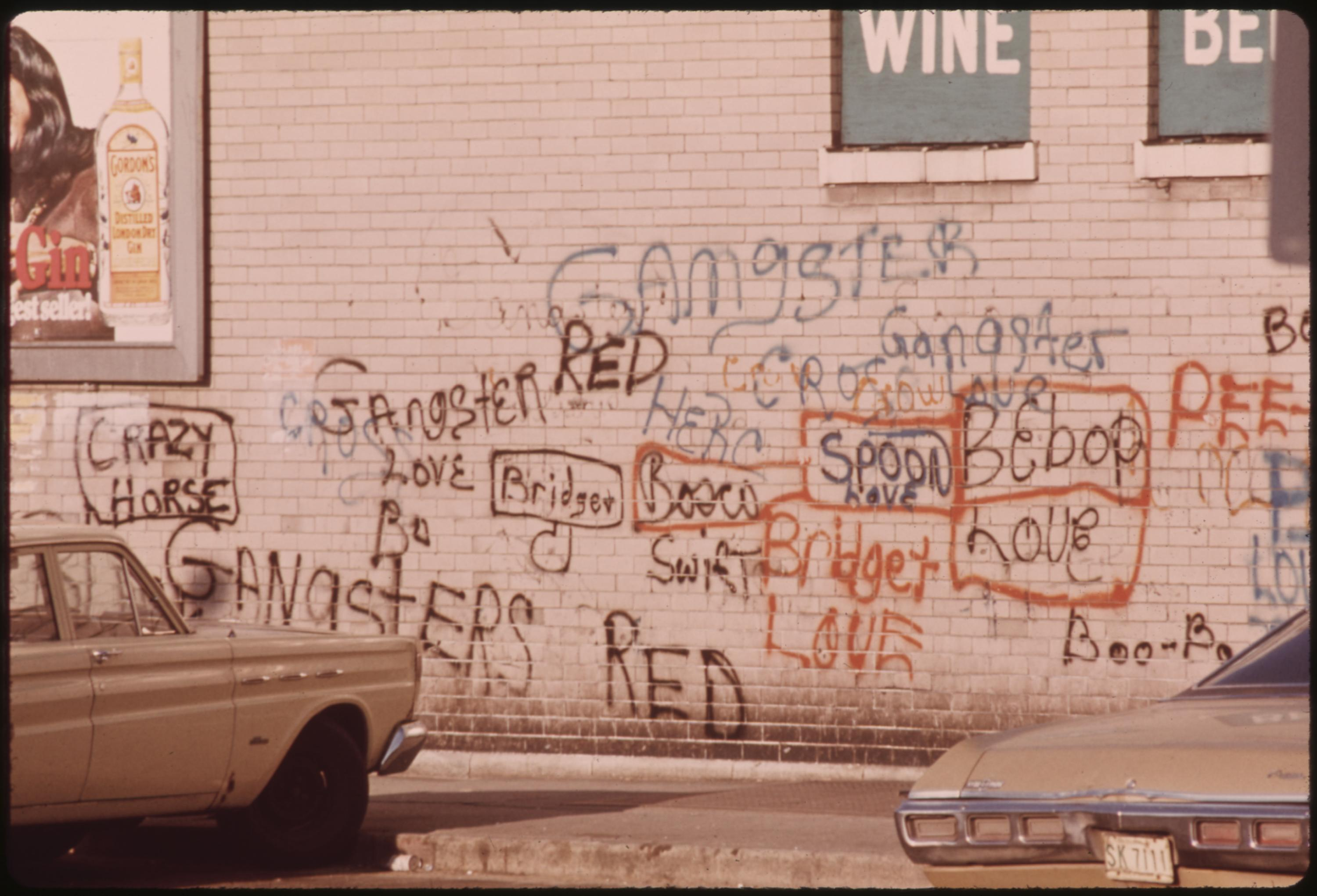 Graffiti On A Wall In Chicago. Such Writing Has Advanced And Become An Art Form, Particularly In Metropolitan Areas, 05:1973