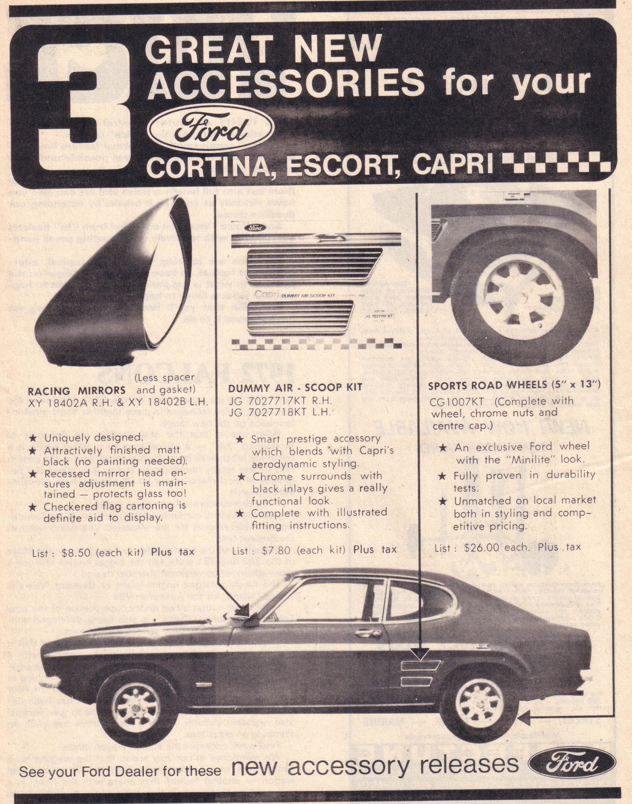Great new accessories 1971