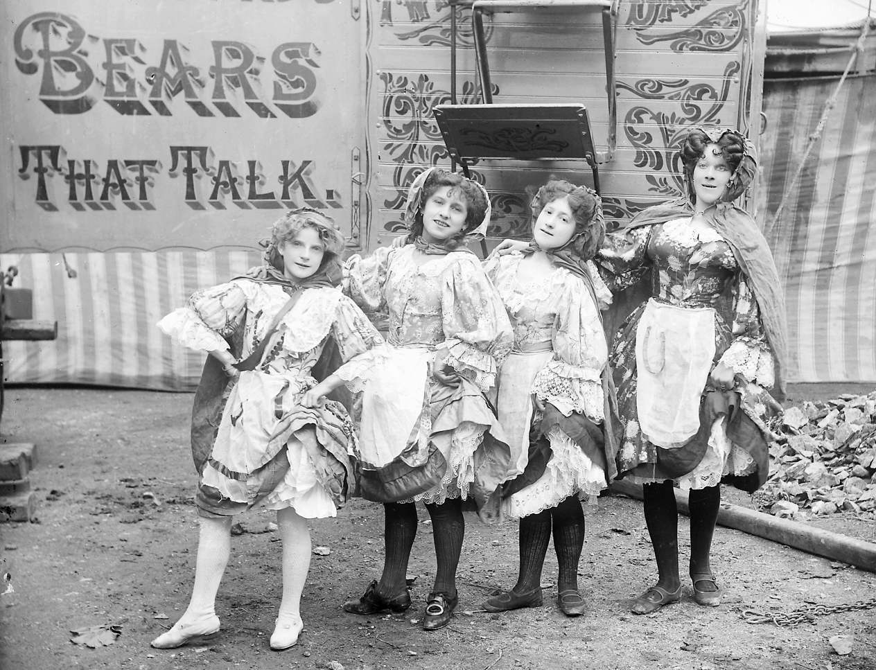 Hanneford's Canadian Circus, four girl circus performers c1910