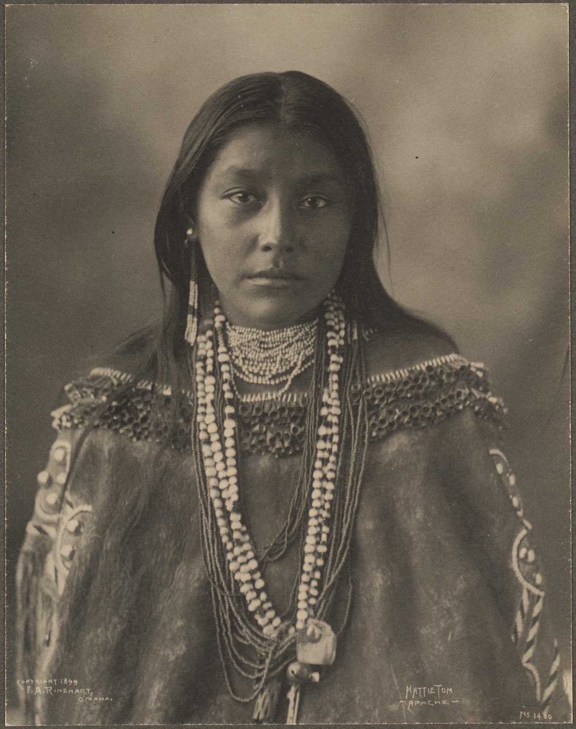Hattie Tom, Apache, 1899. (Photo by Frank A. Rinehart)