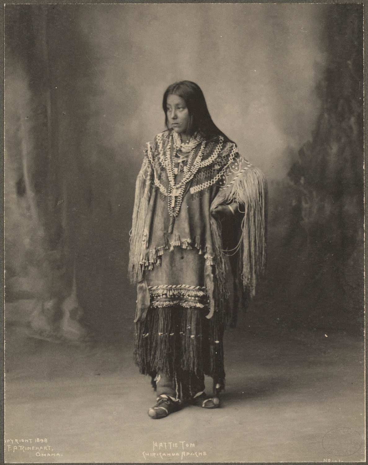 Hattie Tom, Chiricahua Apache, 1899. (Photo by Frank A. Rinehart)