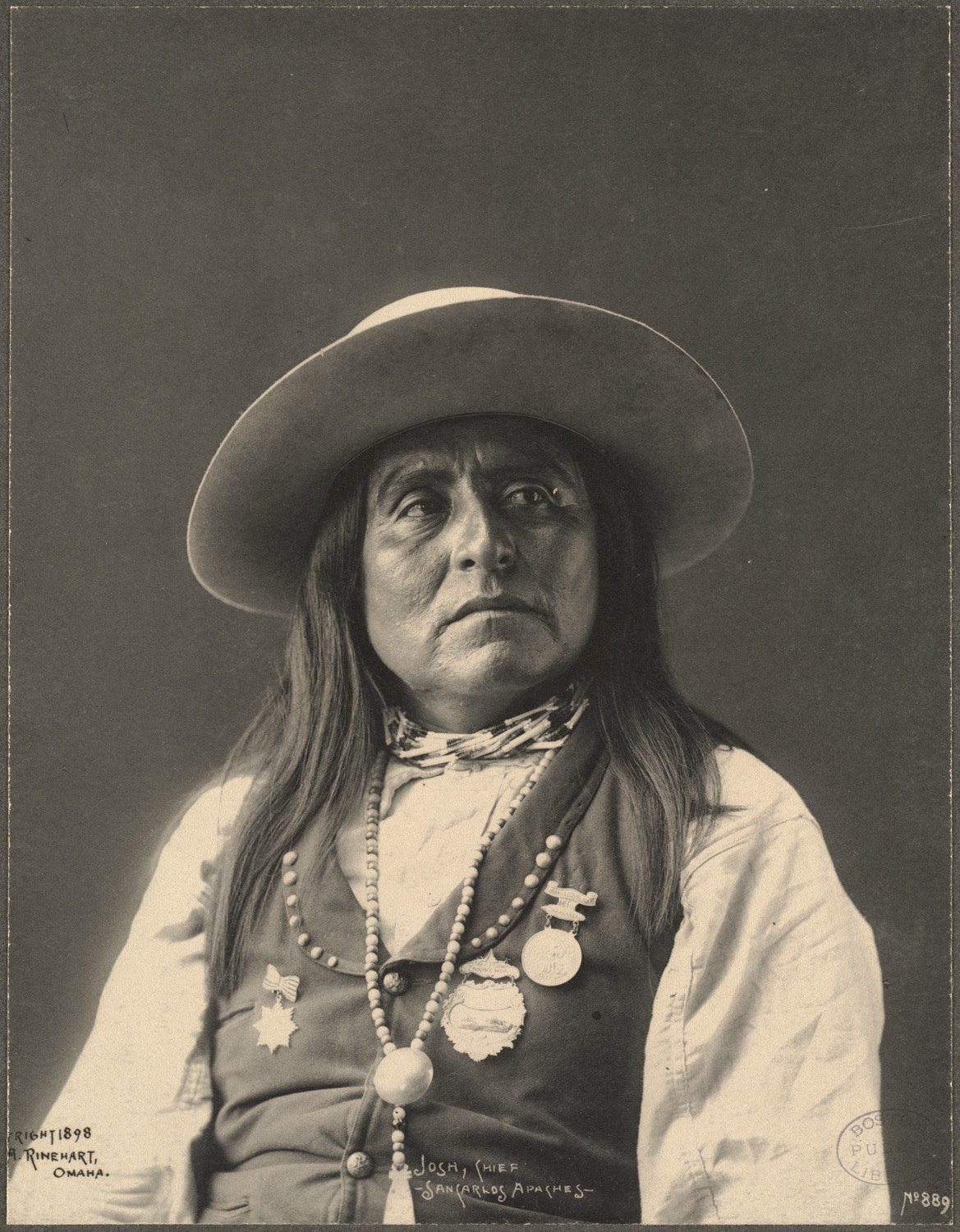 Josh, Chief, San Carlos Apaches, 1899. (Photo by Frank A. Rinehart).