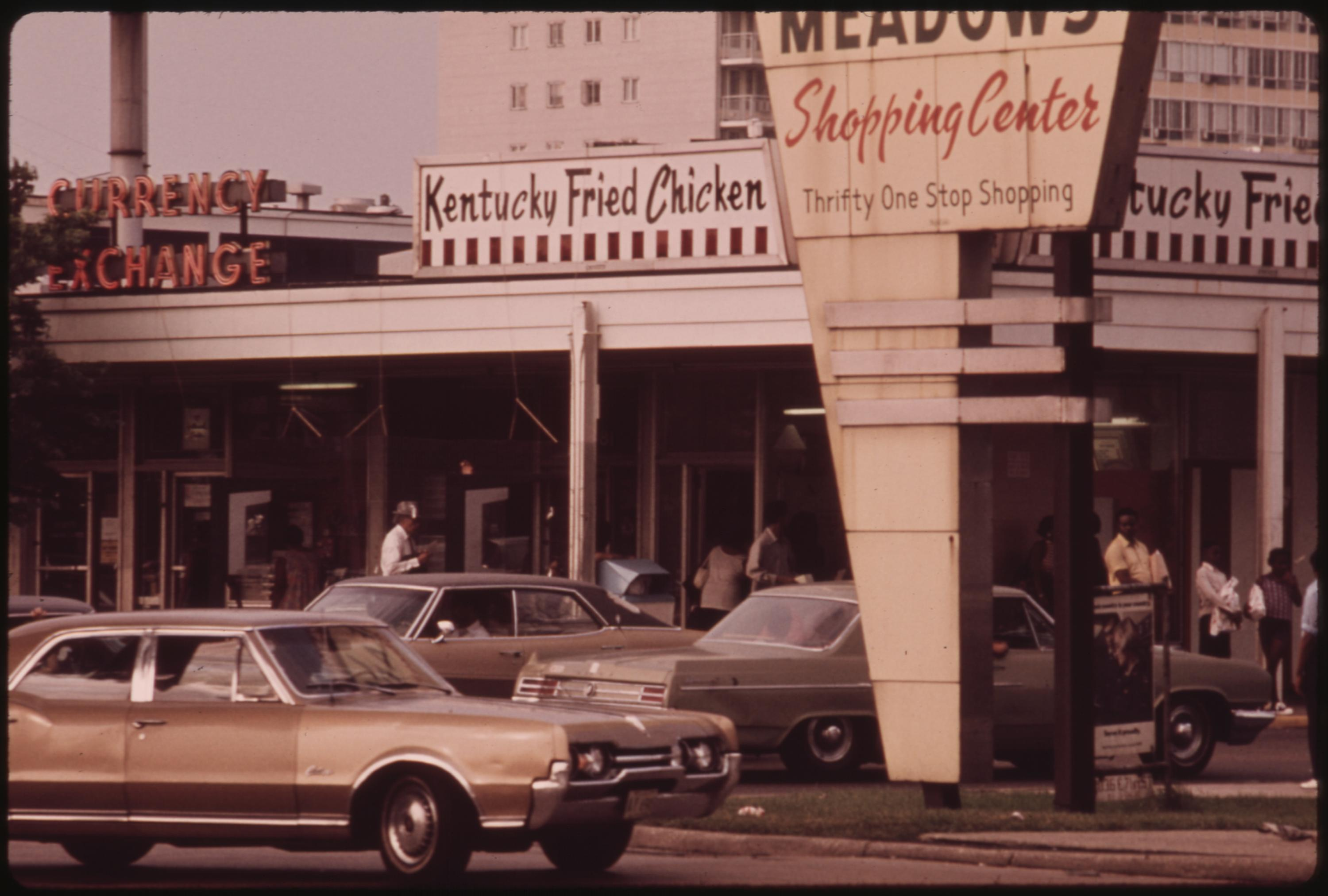 Lake Meadows Shopping Center On Chicago's South Side Which Is Frequented By Blacks, 06:1973