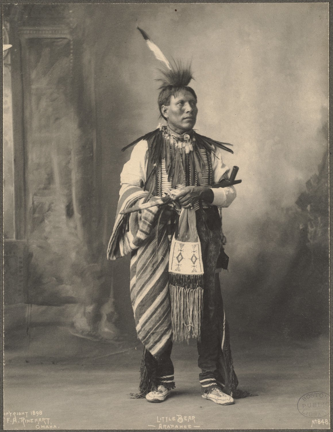 Little Bear, Arapahoe, 1899. (Photo by Frank A. Rinehart)