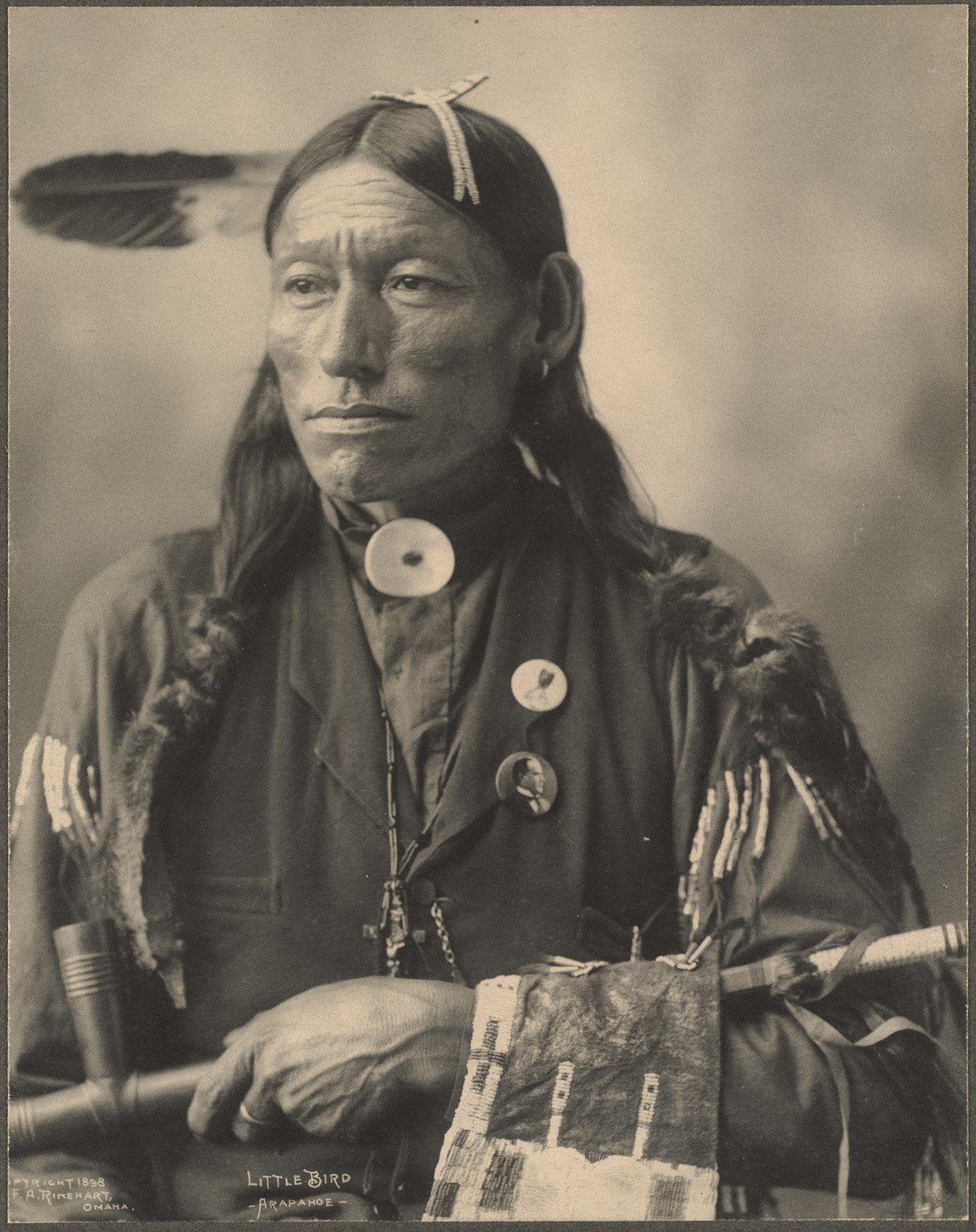 Little Bird, Arapahoe, 1899. (Photo by Frank A. Rinehart)