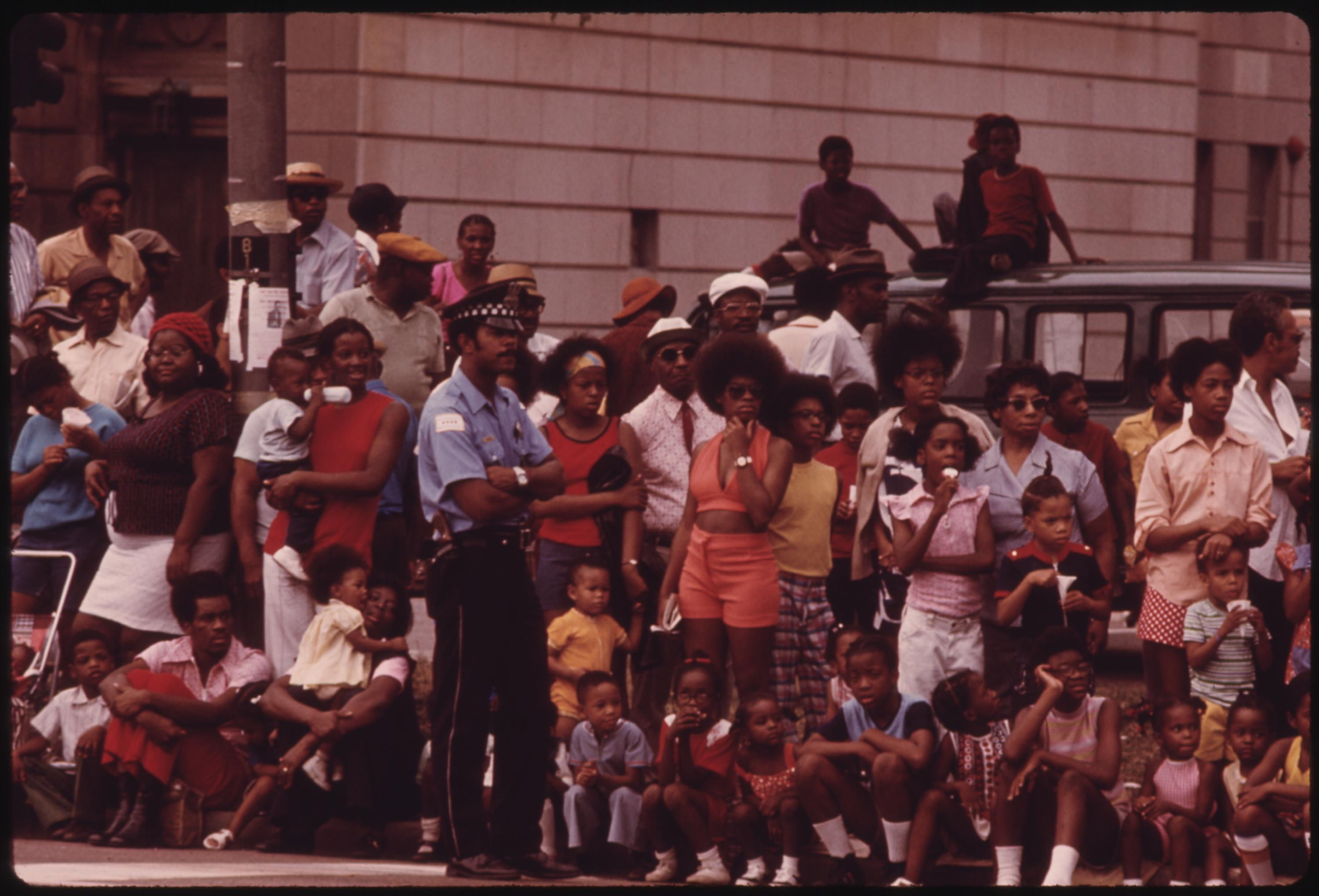 Members Of Chicago's South Side Black Community Line A Portion Of Dr. Martin L. King Jr. Drive To Watch The Annual Bud Billiken Day Parade, 08:1973 John H. White