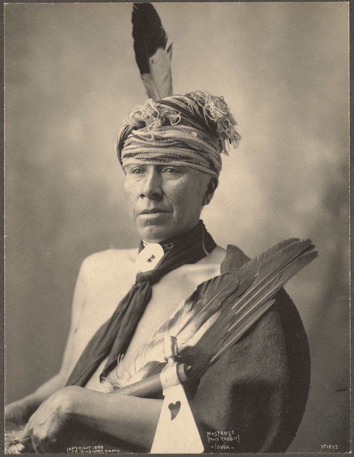 Mosteose (Holy Rabbit), Iowa, 1899. (Photo by Frank A. Rinehart)