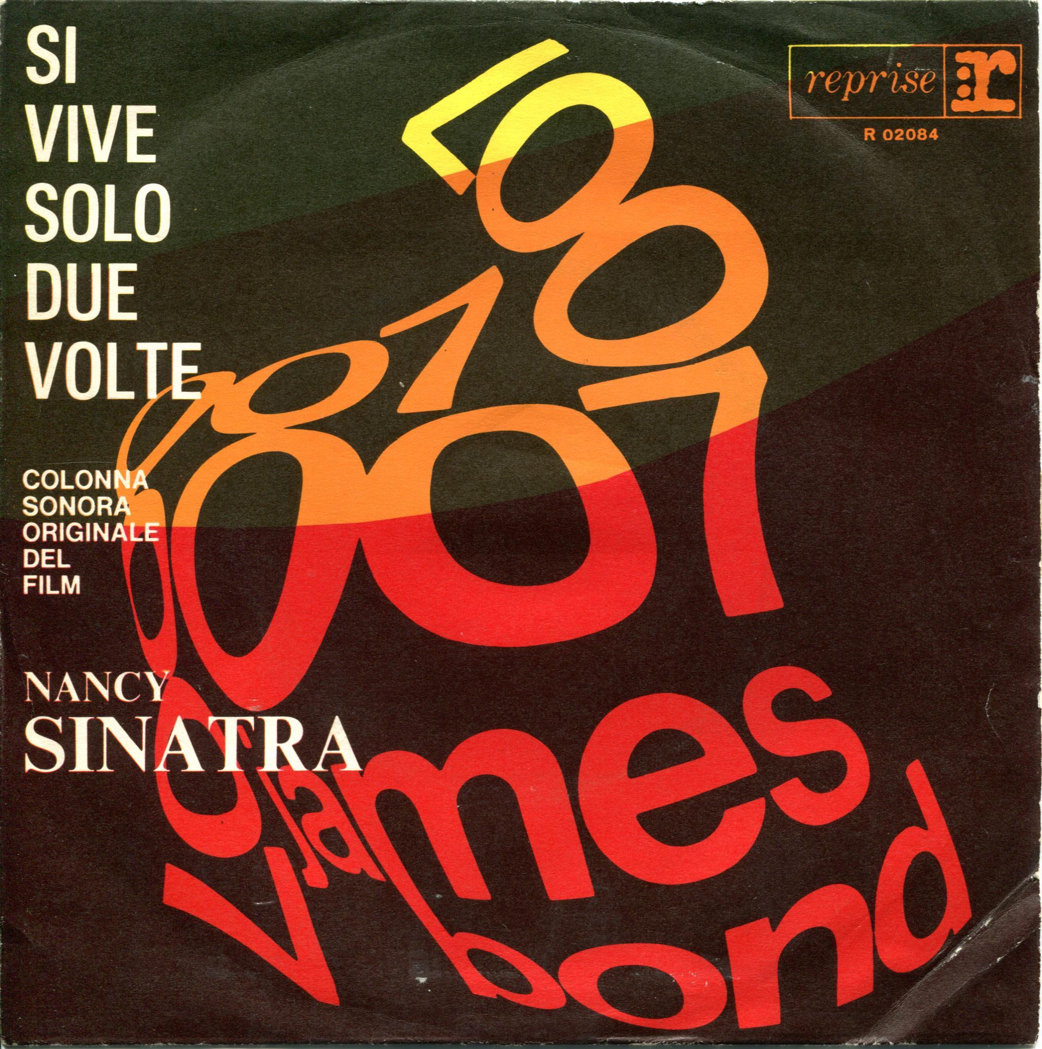 Nancy Sinatra Si Vive Solo Due Volte swirly writing