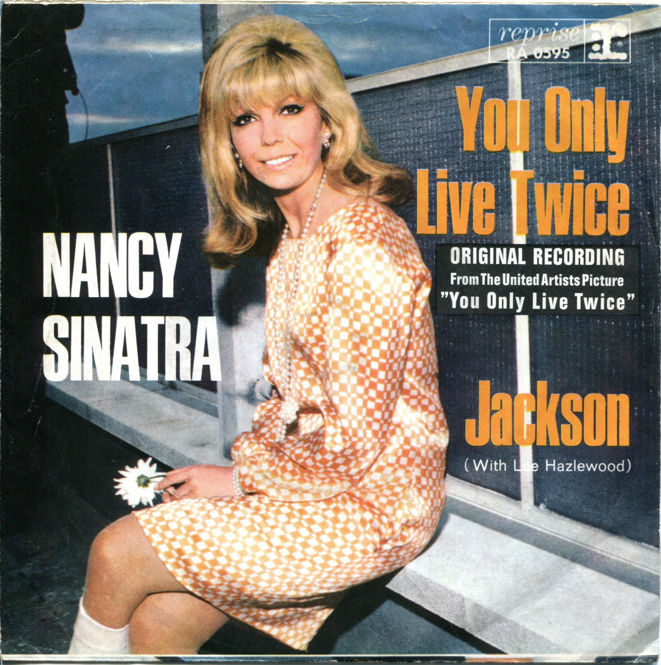 Nancy Sinatra You Only Live Twice Reprise orange dress
