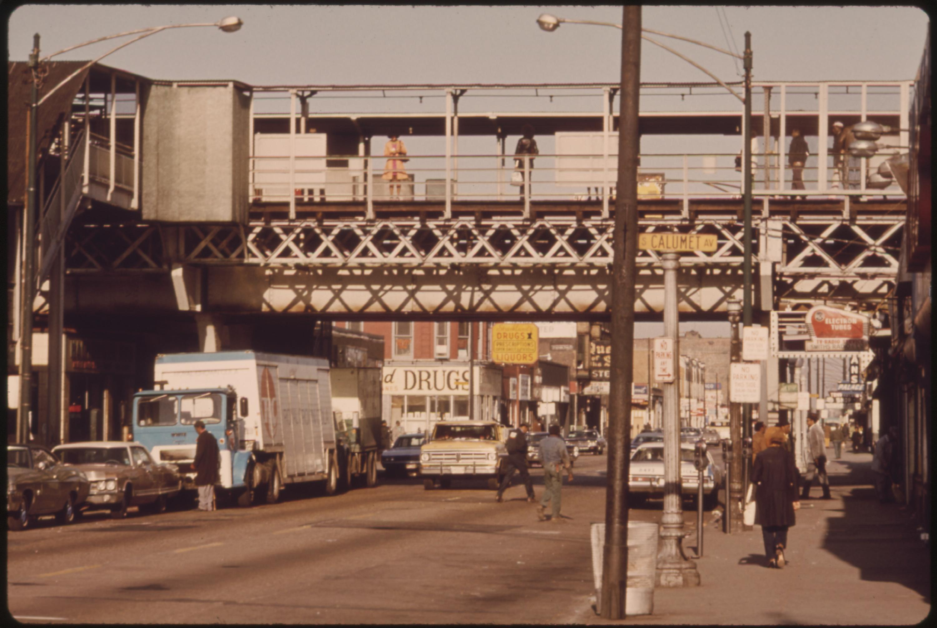 Once One Of Chicago's Busy Thoroughfares, 63rd Street Has Changed With The Character Of The City, 07:1973 John H. White