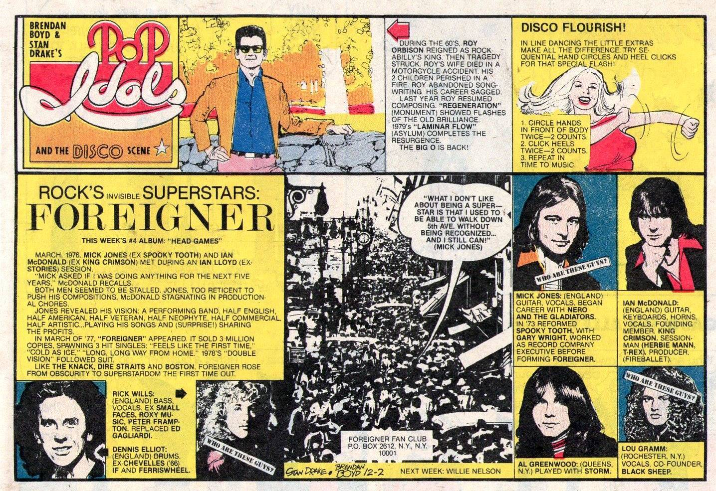 POP IDOLS AND THE DISCO SCENE Newspaper Strip Sunday December 2 1979