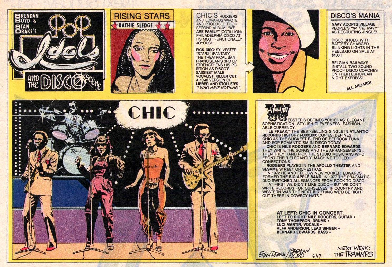 POP IDOLS AND THE DISCO SCENE Newspaper Strip Sunday June 17 1979
