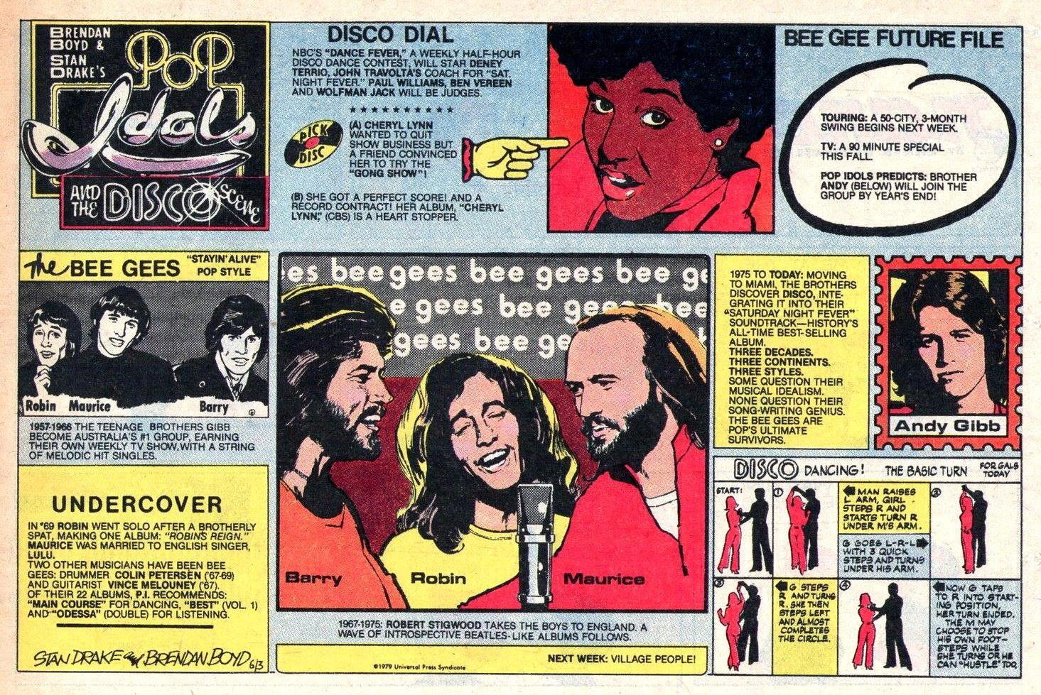 POP IDOLS AND THE DISCO SCENE Newspaper Strip Sunday June 3 1979