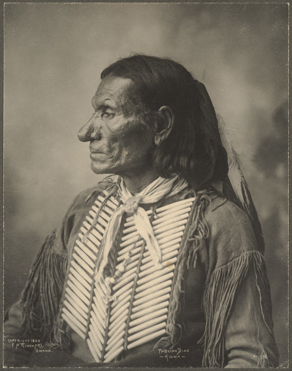 Pablino Diaz, Kiowa, 1899. (Photo by Frank A. Rinehart)