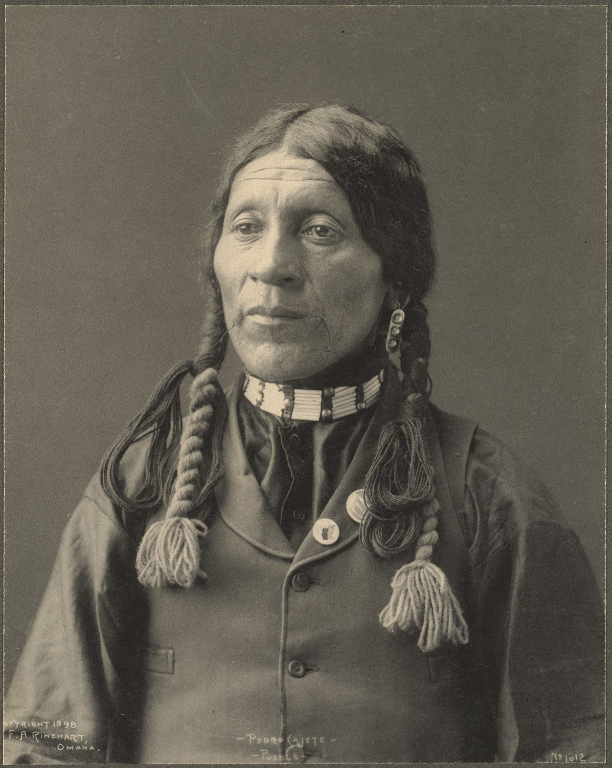 Pedro Cajete, Pueblo, 1899. (Photo by Frank A. Rinehart).
