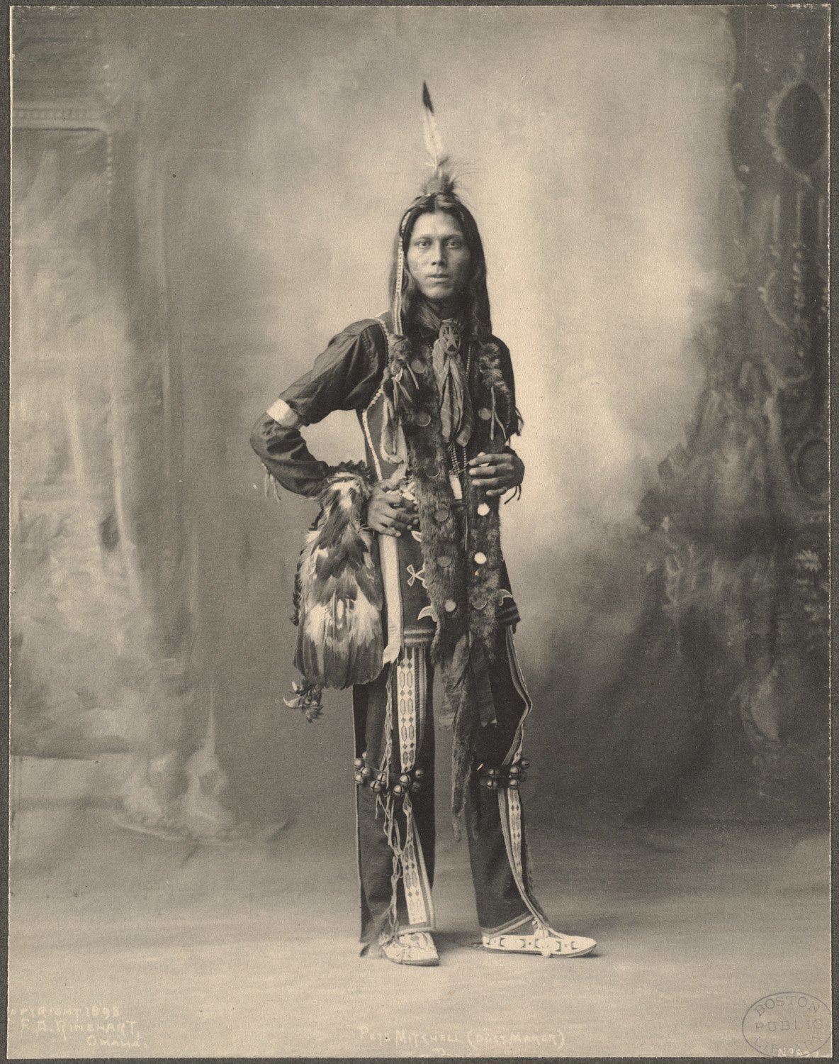 Pete Mitchell (Dust Maker), Ponca, 1899. (Photo by Frank A. Rinehart)