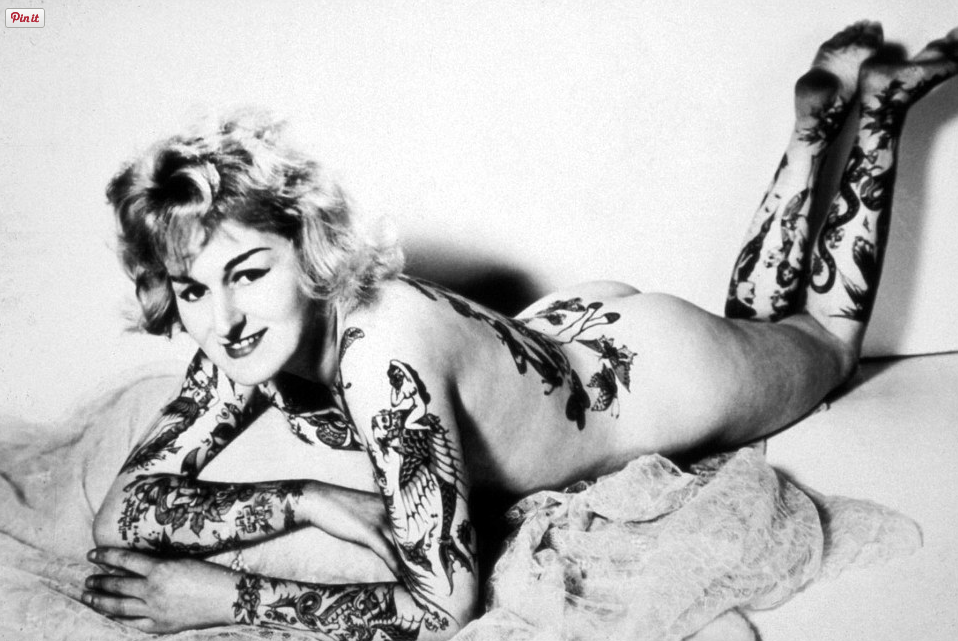 Australian model, Cindy Ray, had become a global superstar by 1962 - all thanks to her elaborate tattoos