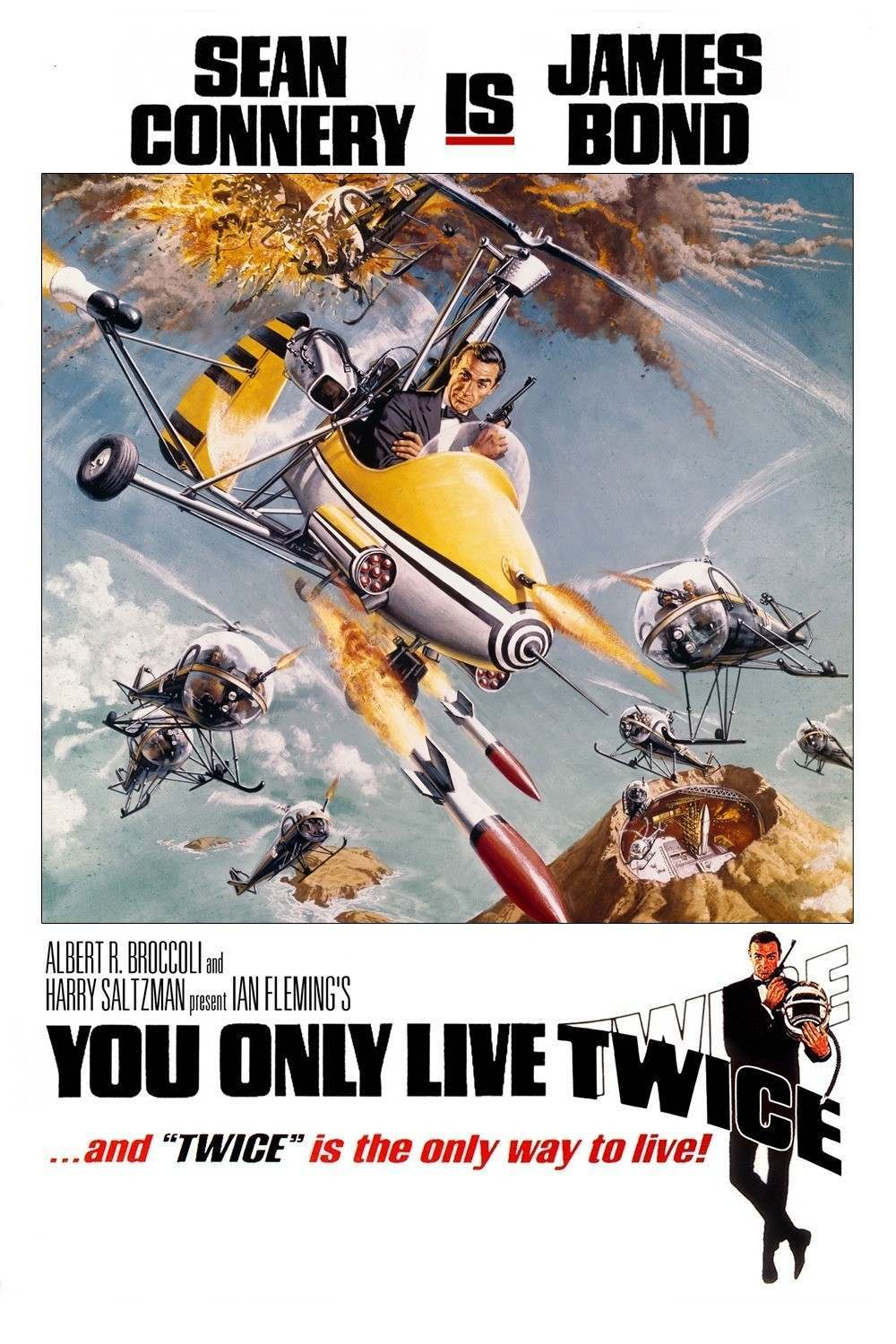 Sean Connery is James Bond You Only Live Twice poster