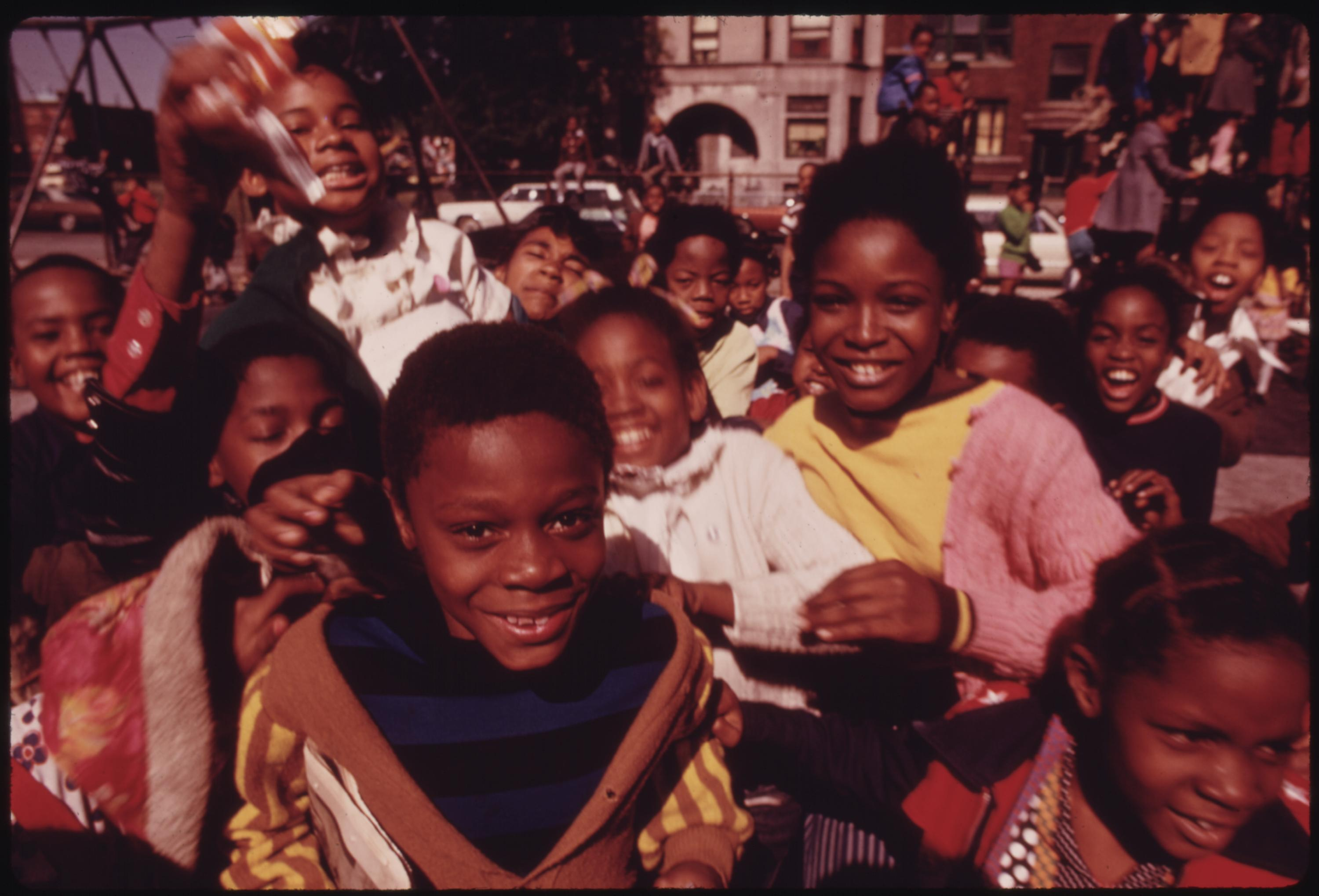 South Side Group Of Black Children In Chicago At A Playground At 40th And Drexel Boulevard, 10:1973 John H. White