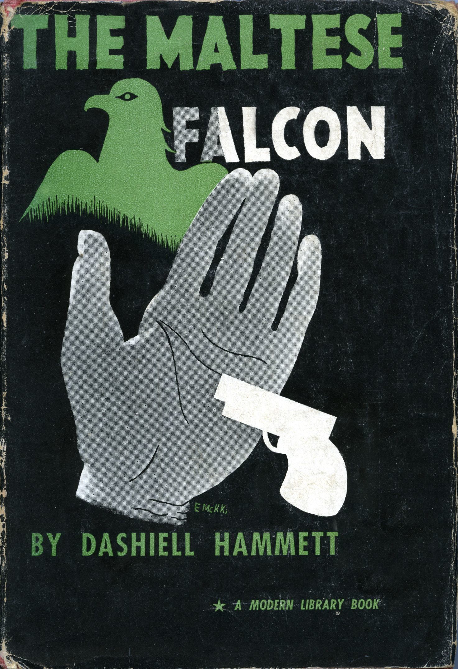 The Maltese Falcon by Dashiell Hammett, Modern Library 1934.