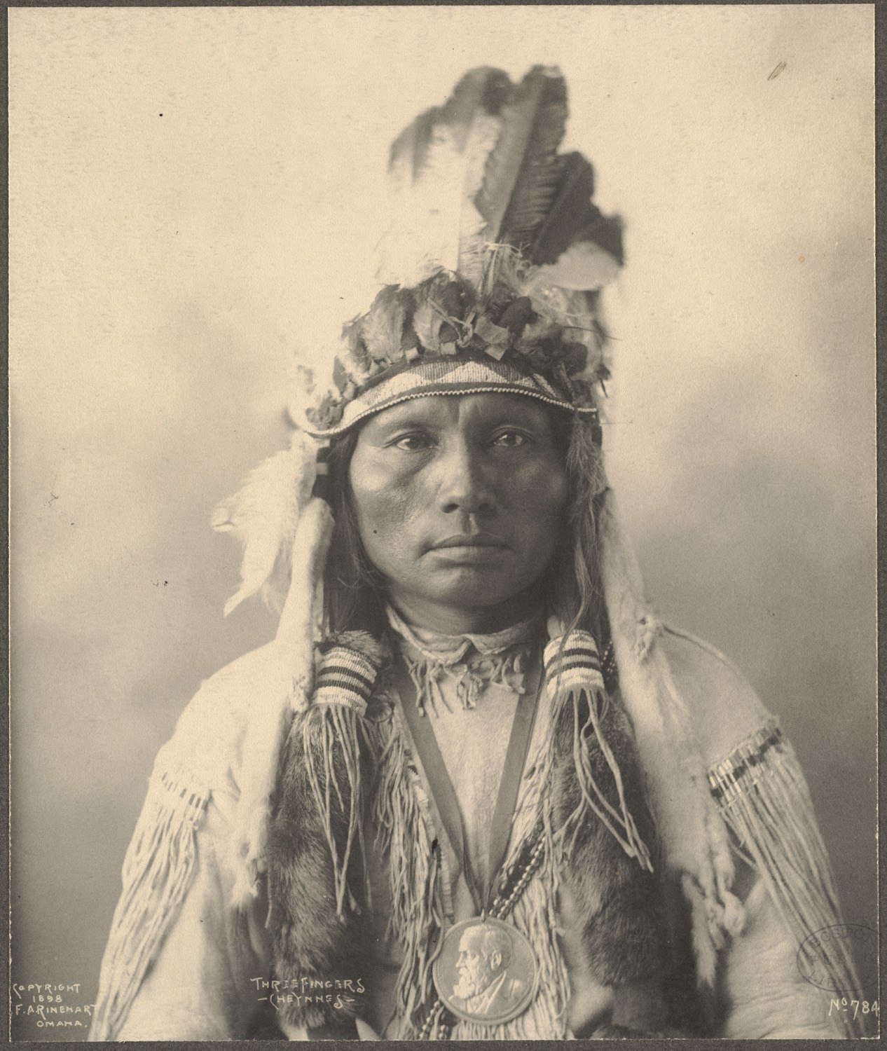 Three Fingers, Cheyennes, 1899. (Photo by Frank A. Rinehart)
