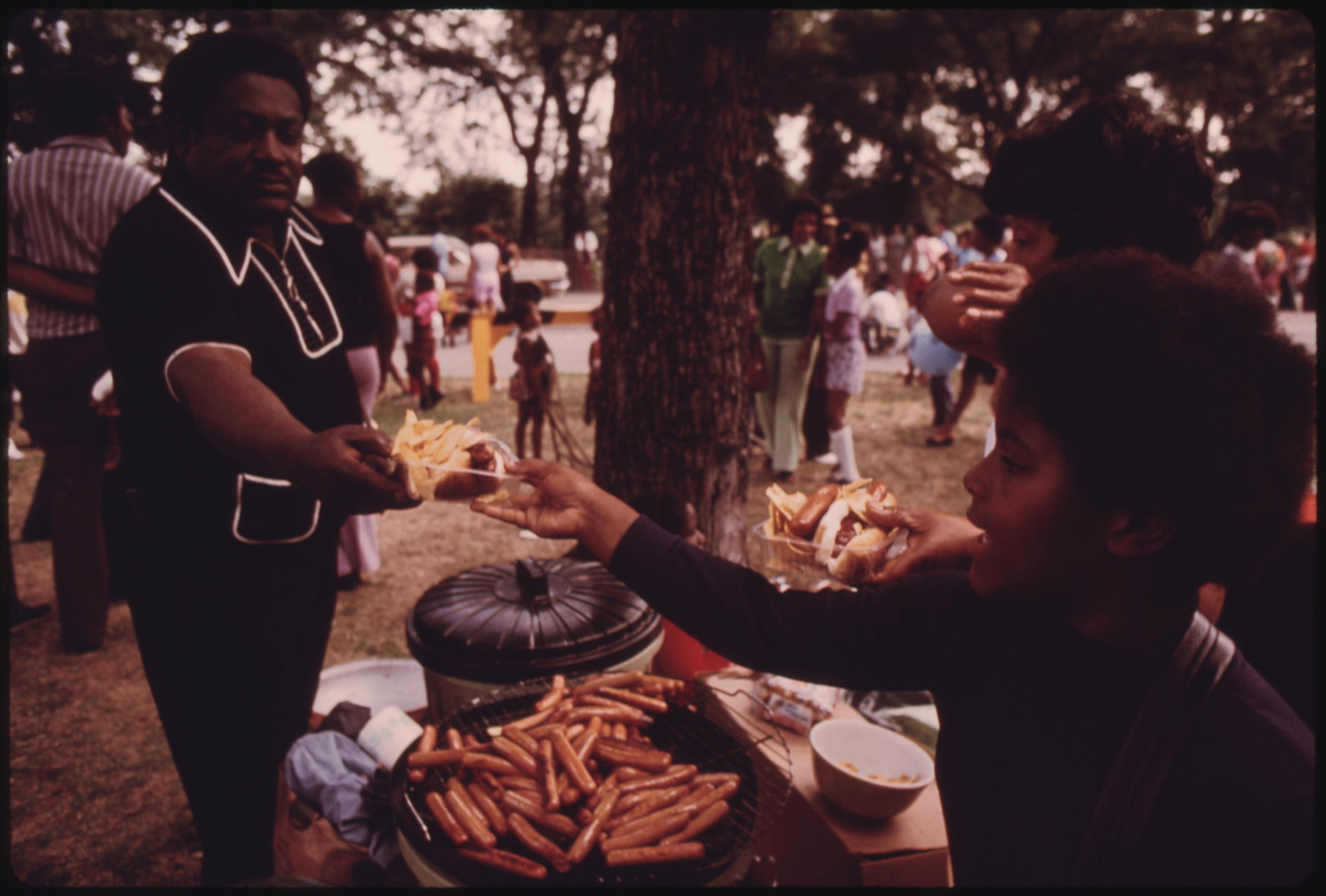 Washington Park On Chicago's South Side Where Many Black Families Enjoy Picnicking During The Summer, 07:1973 John H. White