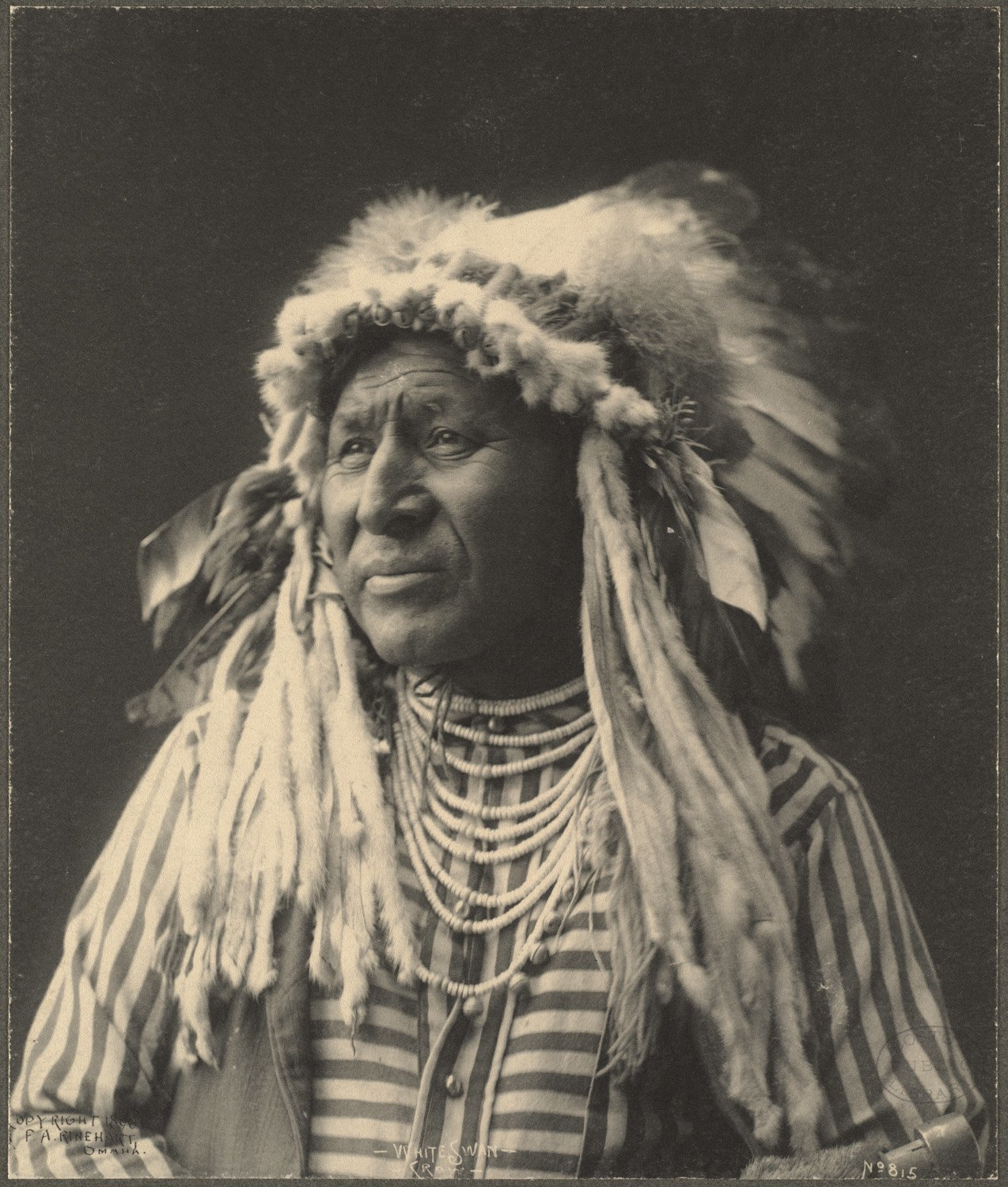White Swan, Crow, 1899. (Photo by Frank A. Rinehart)