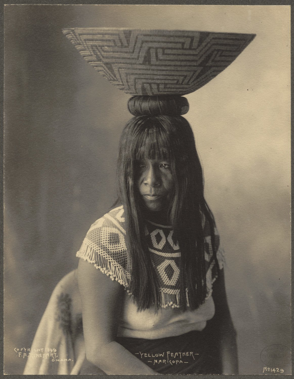 Yellow Feather, Maricopa, 1899. (Photo by Frank A. Rinehart)