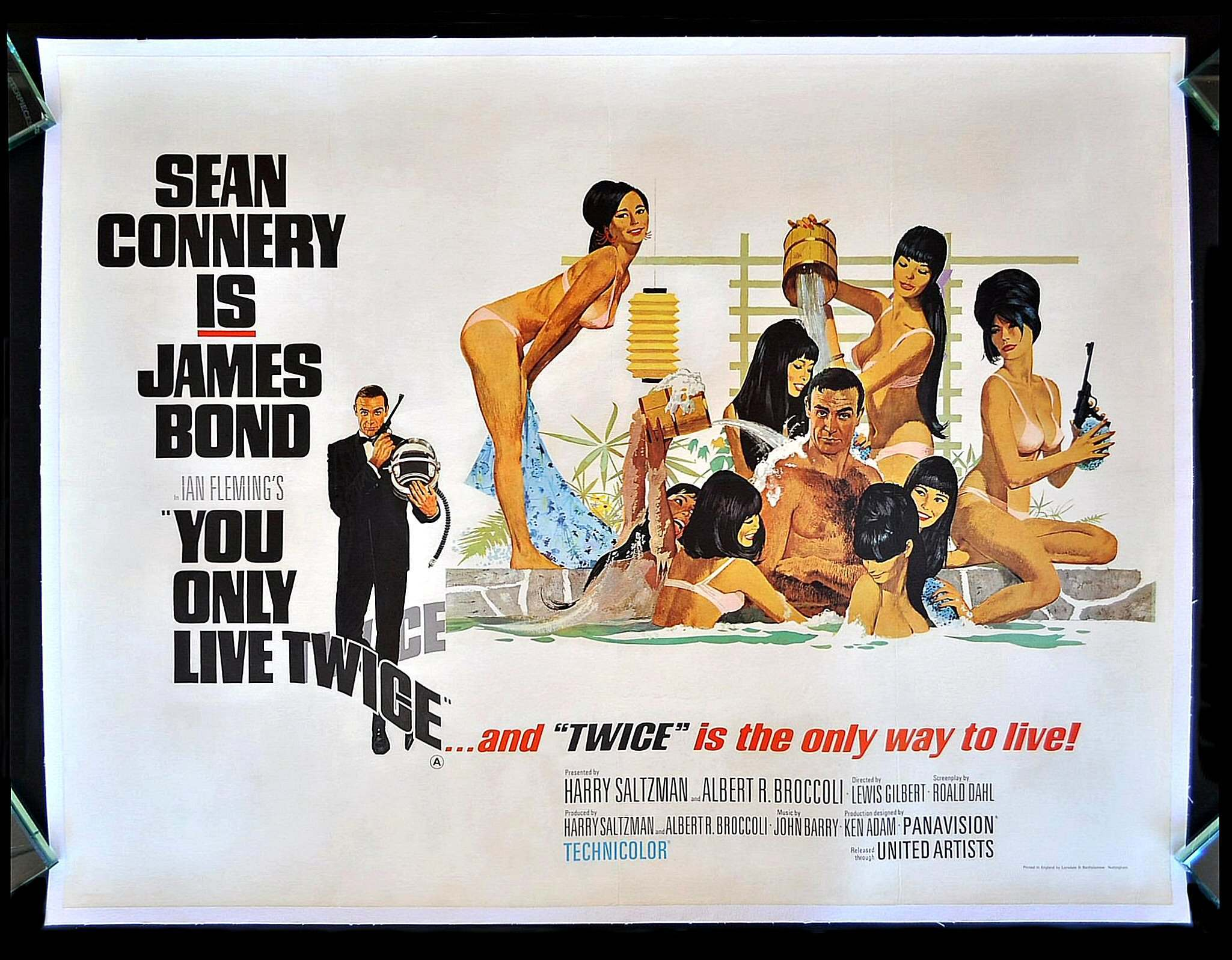 You Only Live Twice Bond bathing with lovelies poster