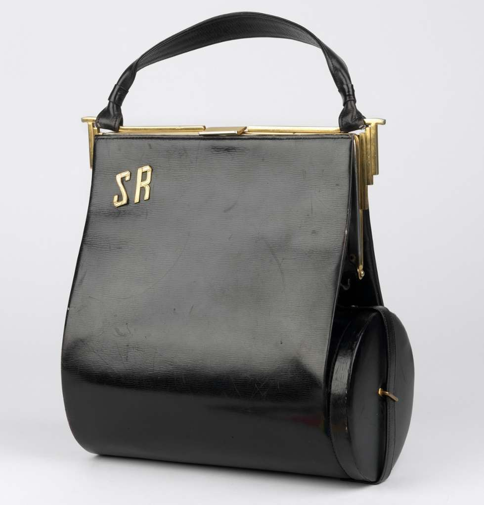 A handbag that doubled up as a respirator carrier.