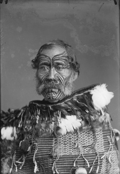 Cabinet card portrait of Paora Torotoro, chief of Ngati Hinepare, taken, probably in the 1880s, by Samuel Carnell of Napier.