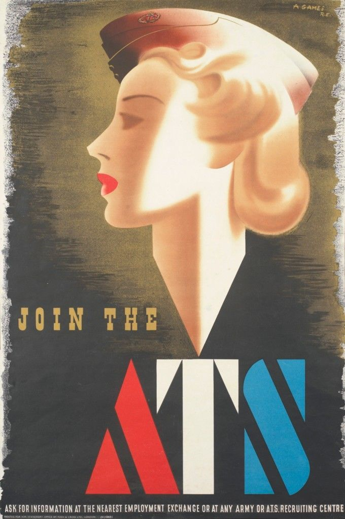 A poster encouraging women to join the ATS from 1941 shows a popular waved hairstyle.