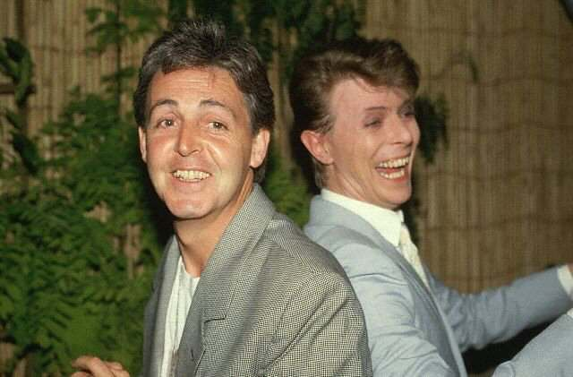 Paul McCartney, David Bowie, 1985