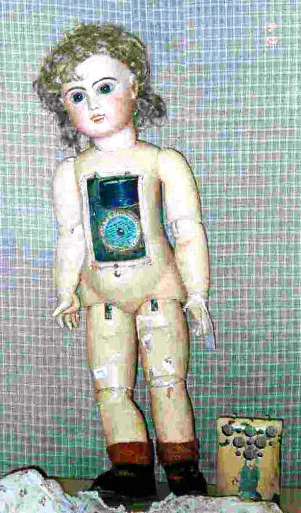 A doll from Huguette Clark's collection. From a snapshot among her personal papers.