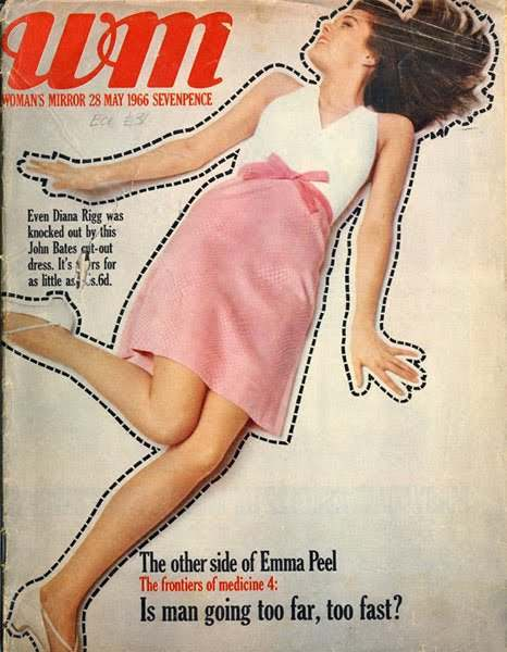 Diana Rigg on the cover of Woman's Mirror from 1966
