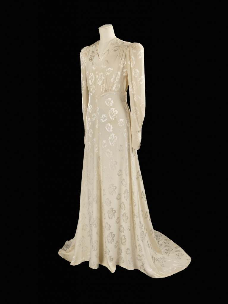 Conserving fabric was vital, this wedding dress was worn by 15 different women.