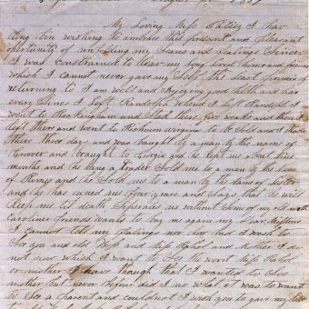 Letter from a Slave, 1857