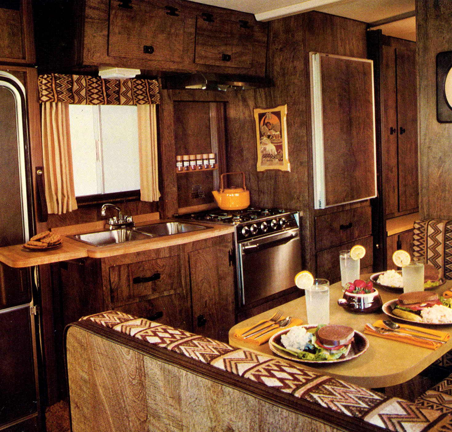 www kitchen interior design photo campers of shag a look inside groovy recreational 1977