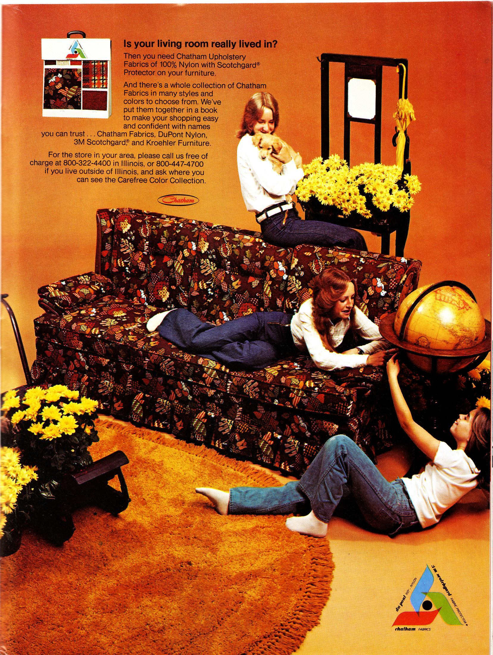 Orange And Brown Living Room When Living Rooms Went Brown Earth Toning Of American Homes In