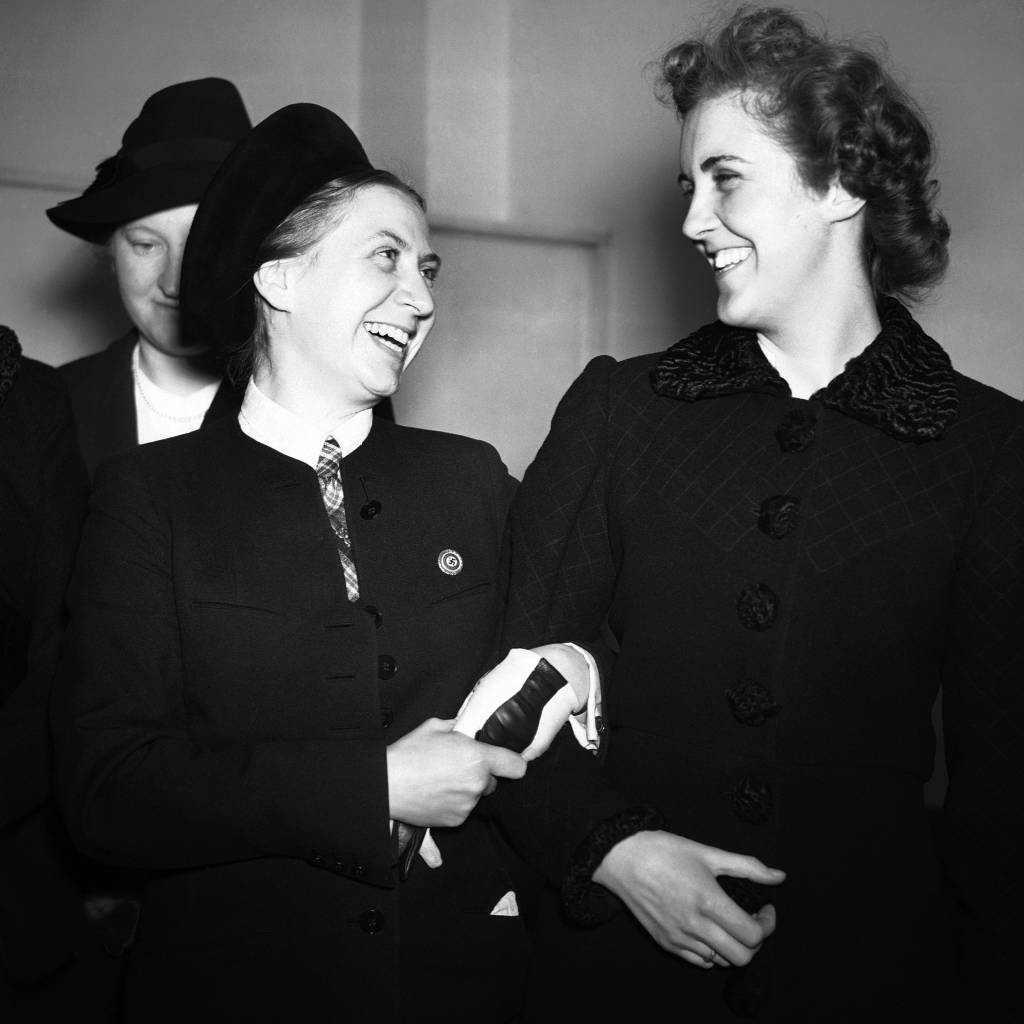 Gertrud Scholtz Klink with Prunella Stack, 8th March 1939