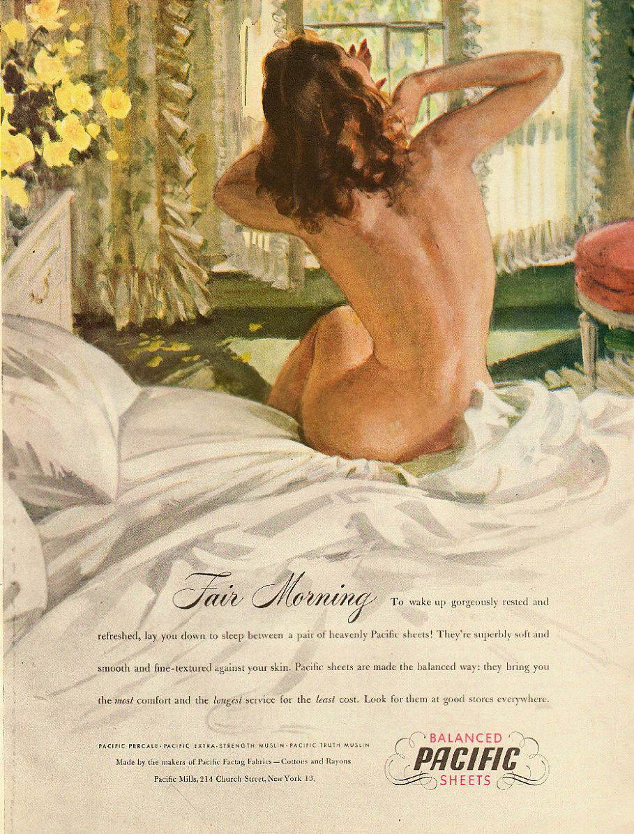 1946 Vintage ad for Pacific Sheets