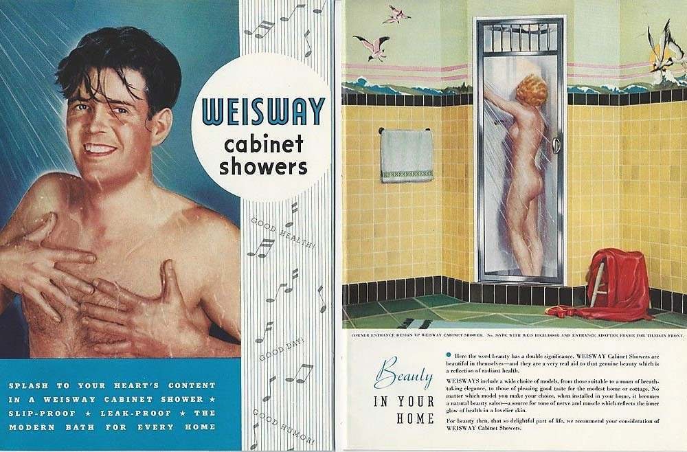 1948 WEISWAY Cabinet SHOWERS