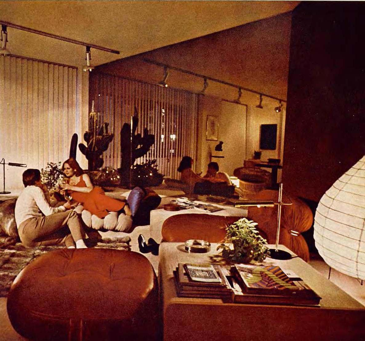 When living rooms went brown earth toning of american for 70s room decor