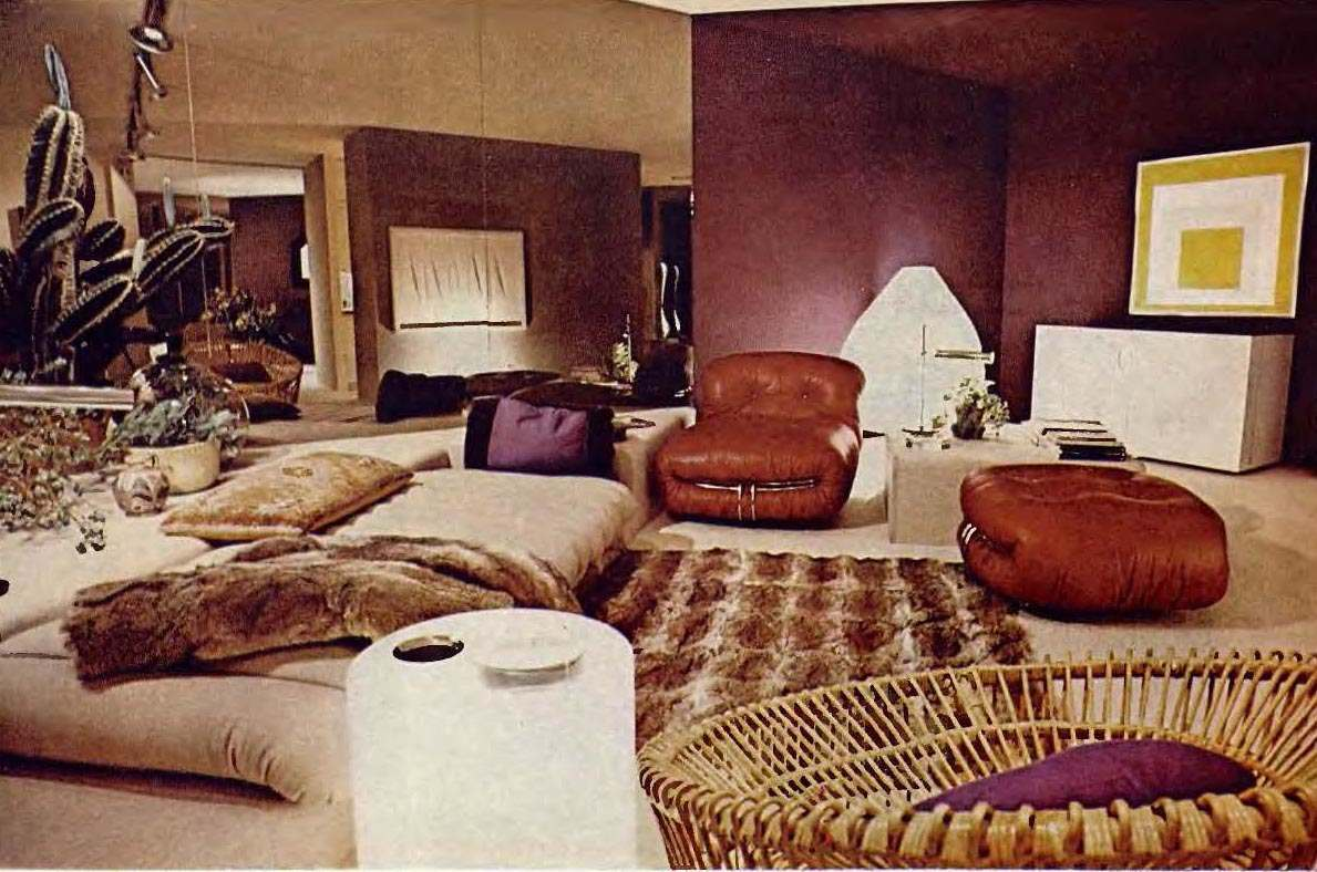 1970s living room when living rooms went brown earth toning of american 10365