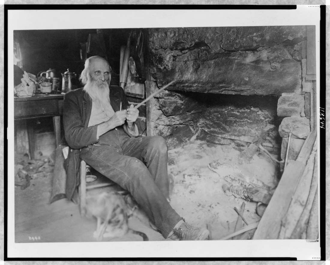 Title: Mountaineer whittling Creator(s): Barnhill, Wm. A. , photographer Date Created/Published: c1920.