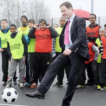 In British Politics Football Is A Game of Own-Goals