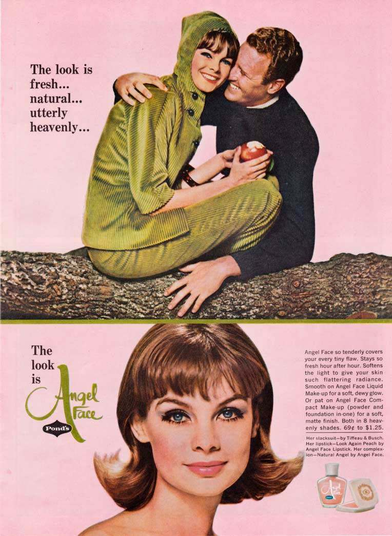 JEAN SHRIMPTON Pond's Angel Face Ad 1964